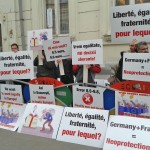 Protest at the embassies of Germany and France